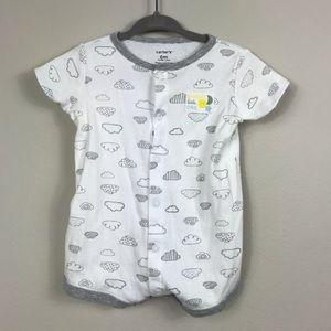 7/$25 Carter's 6 month Short Sleeve Cotton Onesie